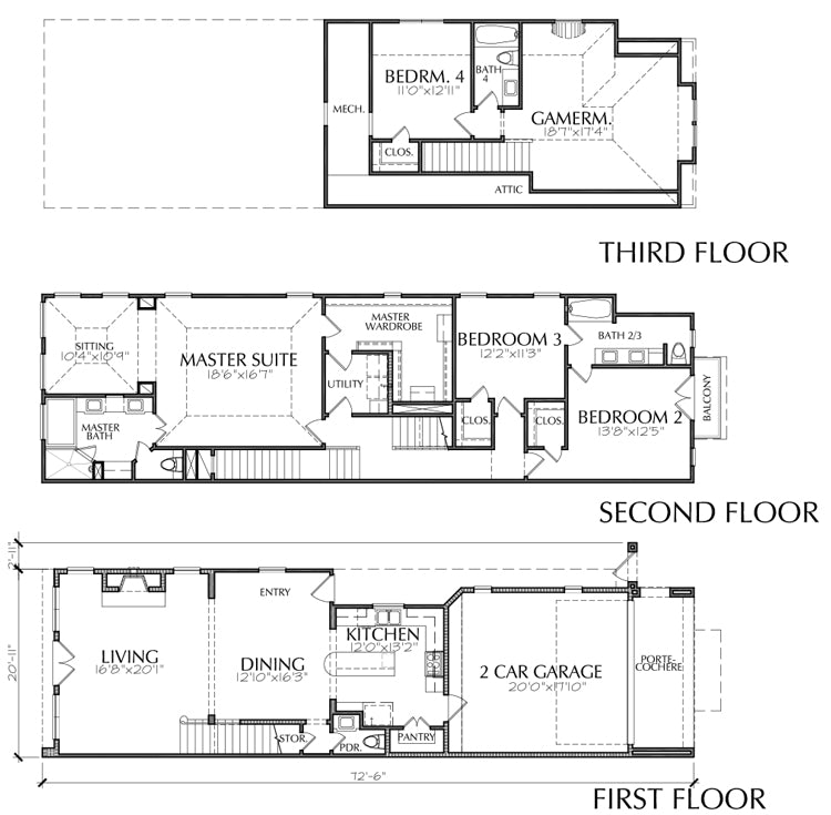 Townhouse Plan E2171 B1.1