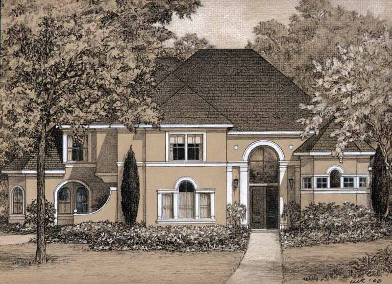 Two Story House Plan D0148