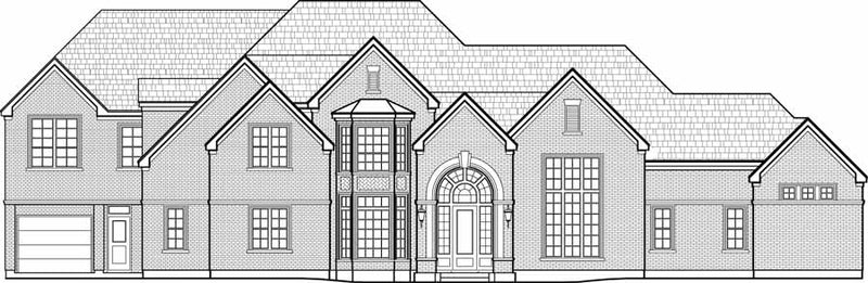 Two Story House Plan C7137