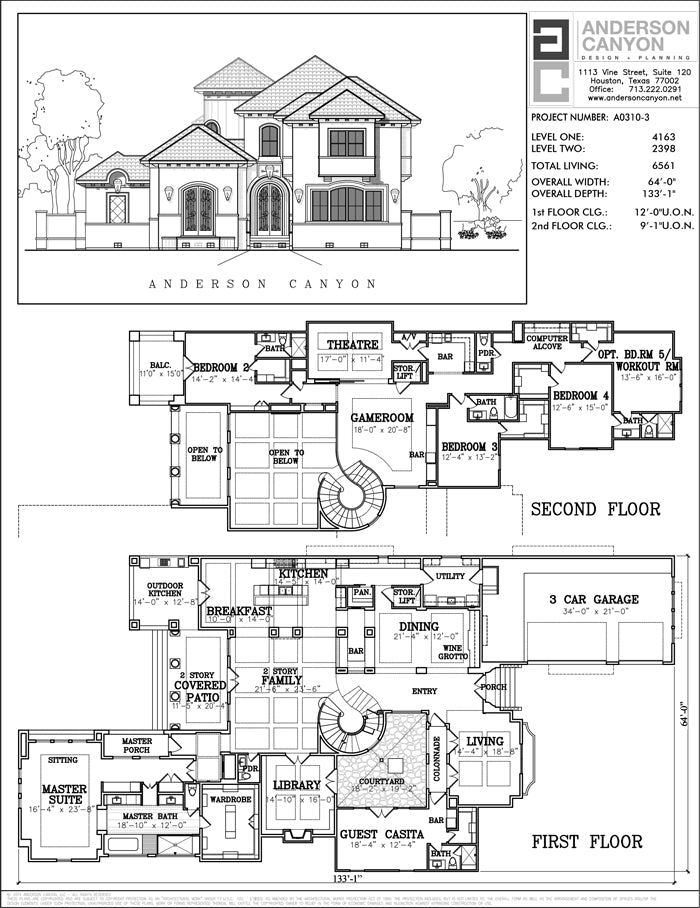 Two Story House Plan A0310