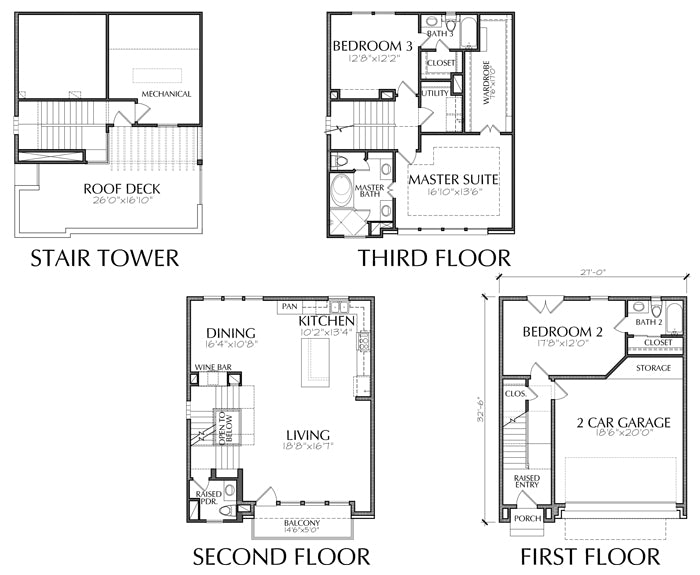 Townhouse Plan E2252 A1.1