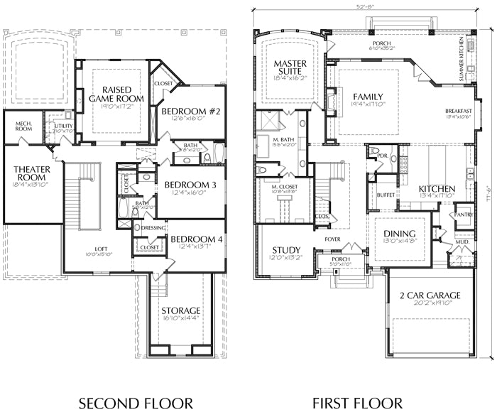 Two Story House Plan E4163