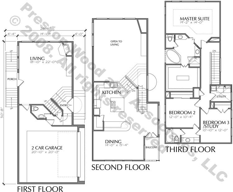 Townhouse Plan D4015 u3