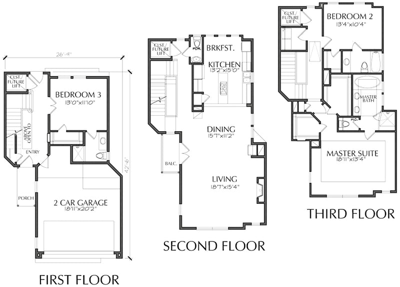 Townhouse Plan E4008 A1.1