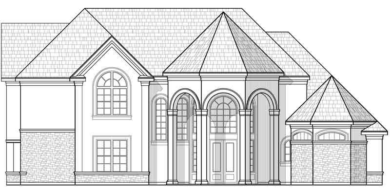 Two Story House Plan C7214