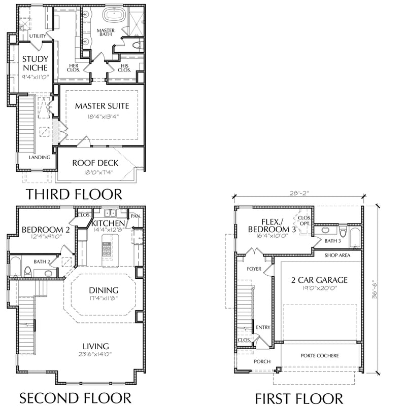 Townhouse Plan E3001 B1.2L