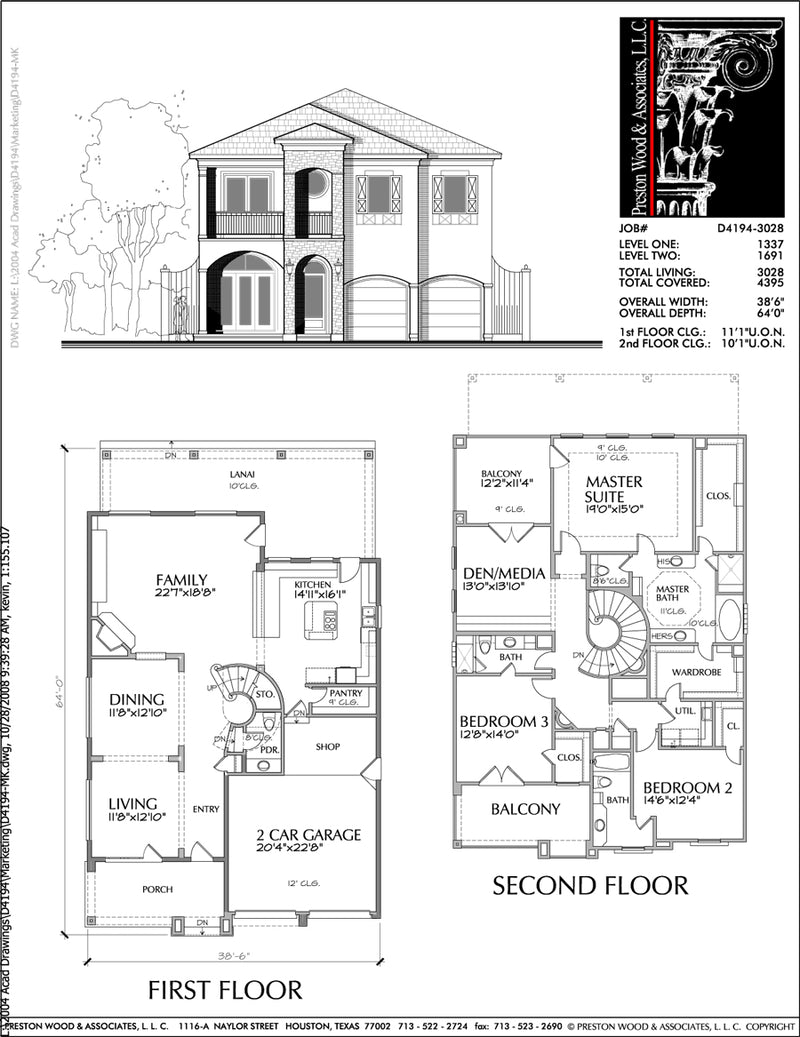 Urban House Plan D4194