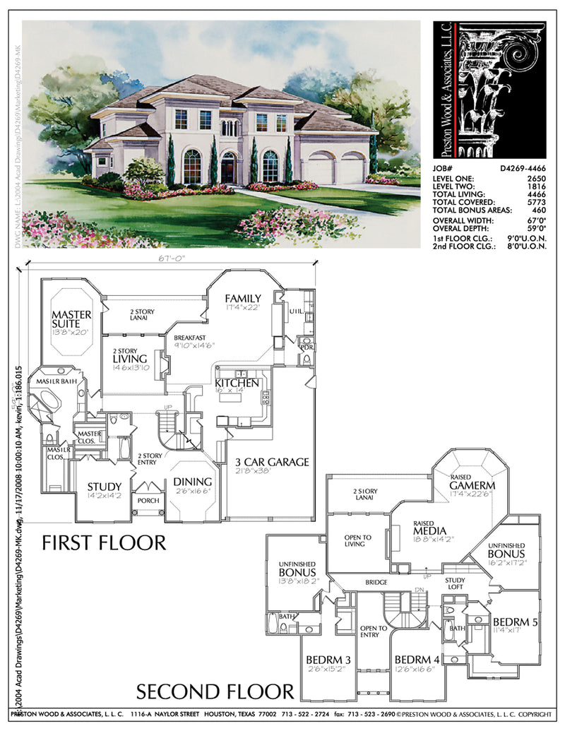 Two Story House Plan D4269