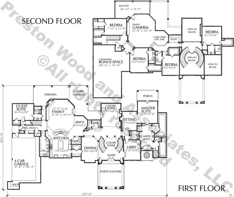 Two Story House Plan D2191