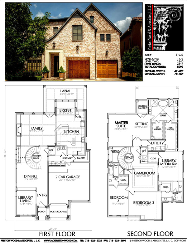 Urban House Plan E1039