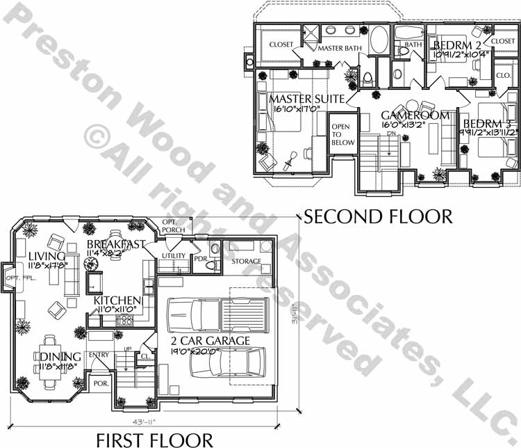 Two Story House Plan C6239 D