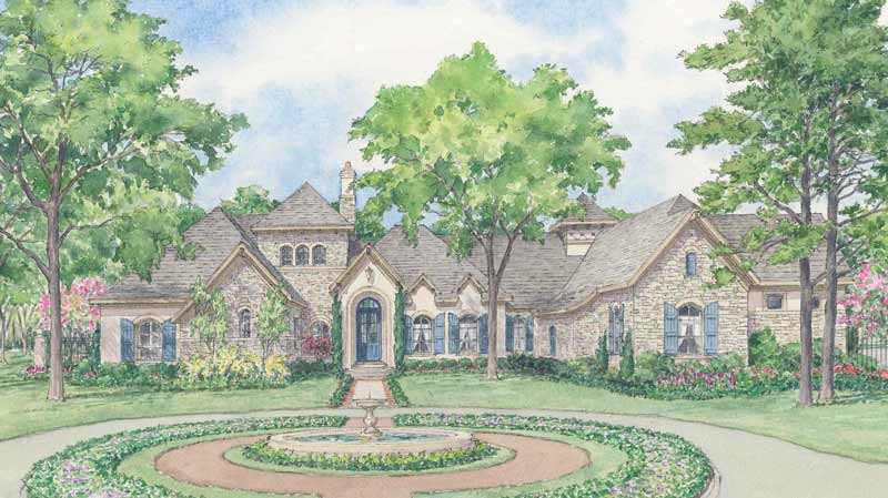One Story Home Plan D1265