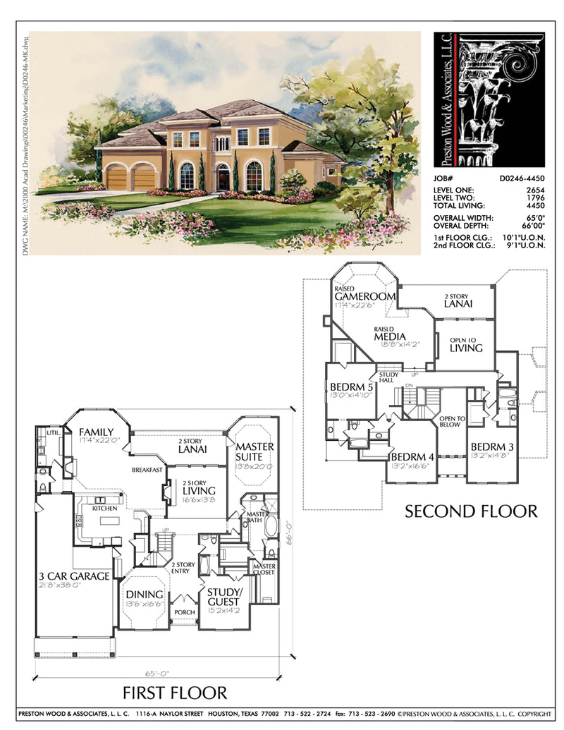 Two Story House Plan D0246