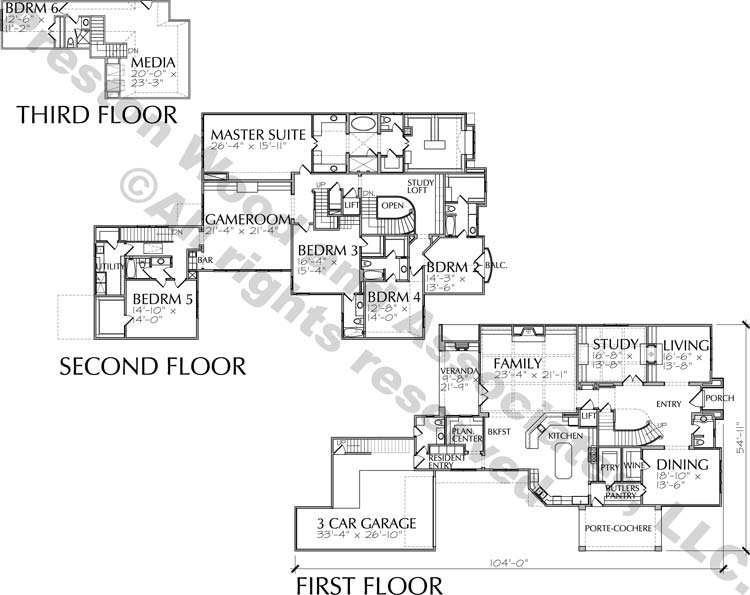 Two Story House Plan D7031