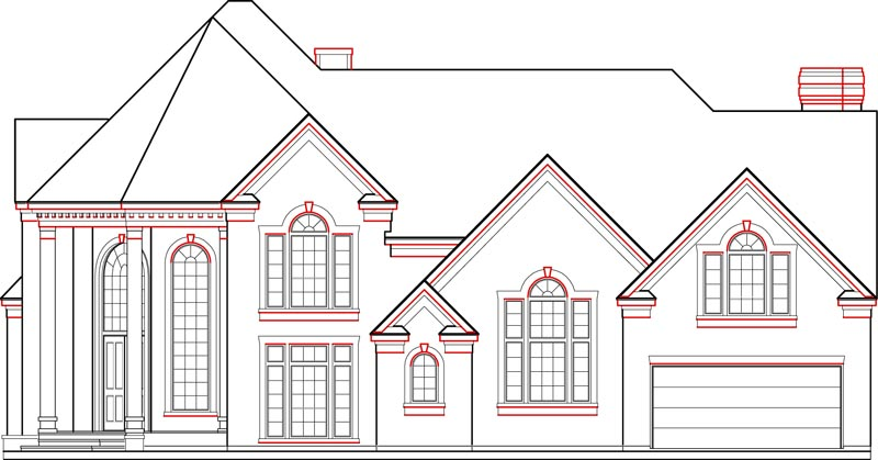 Two Story House Plan C4149
