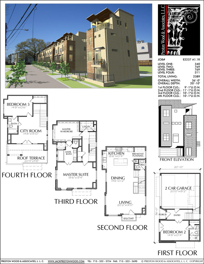 Townhouse Plan E2237 A1.1