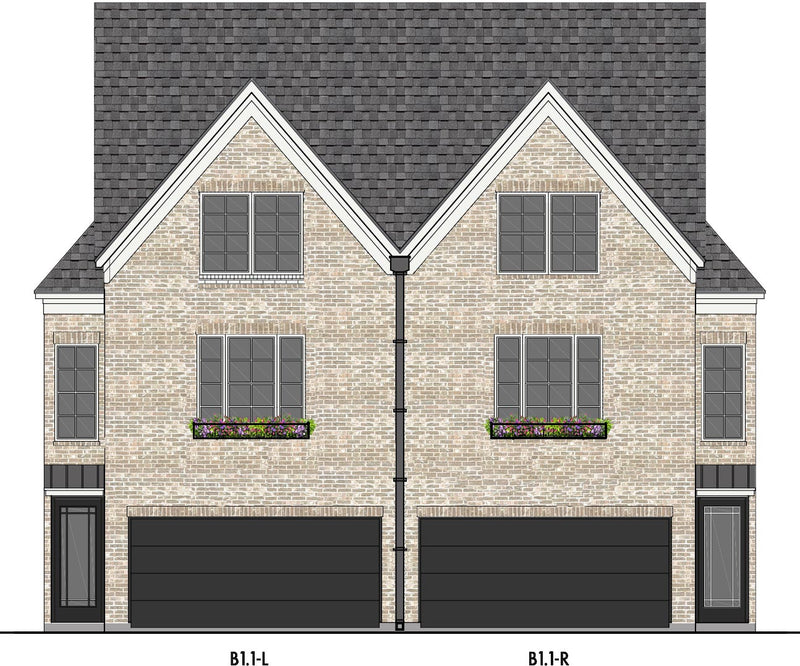 Three Story Home Plan E5159 B1.1