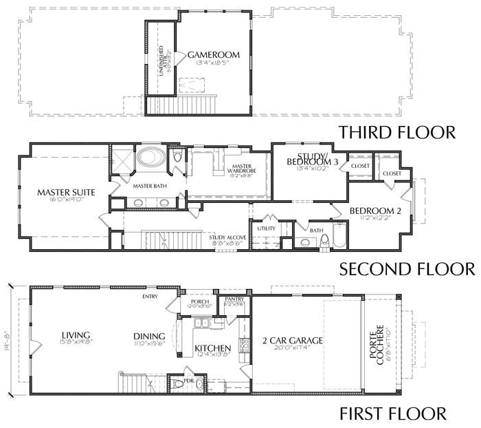 Townhouse Plan E2268 A1.2R