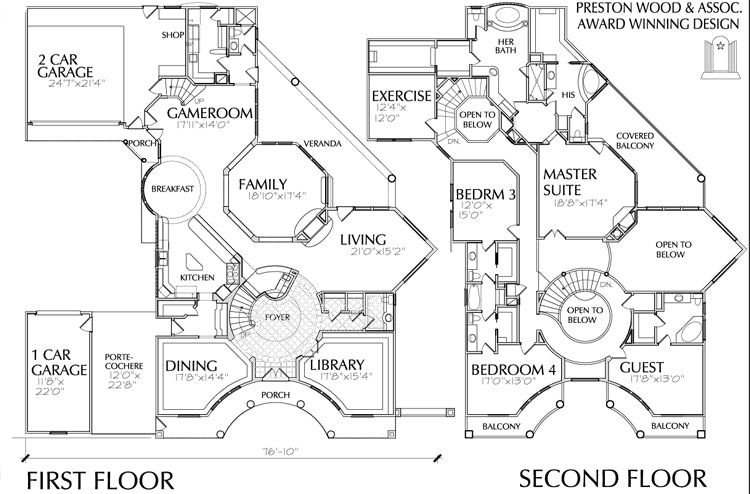 Two Story Home Plan aC4039