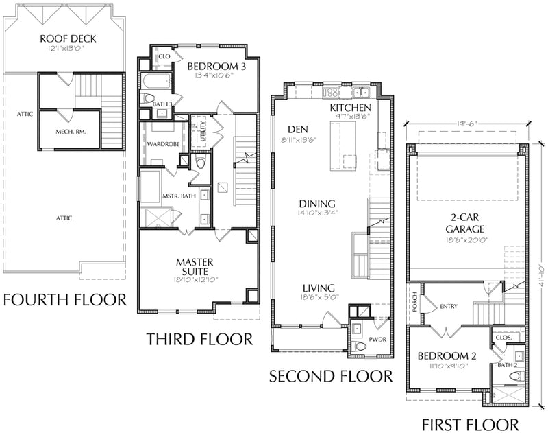 Townhouse Plan E3006 A3.1