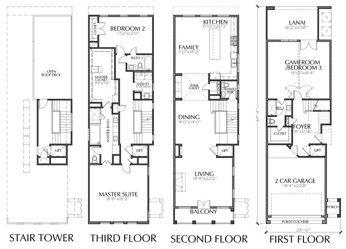 Townhouse Plan E2306 A1.1