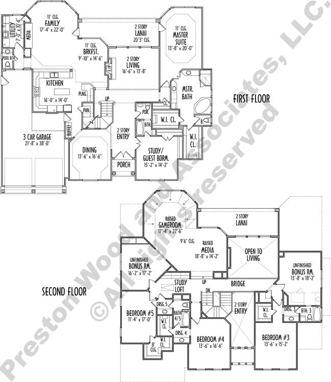 Two Story House Plan C8232