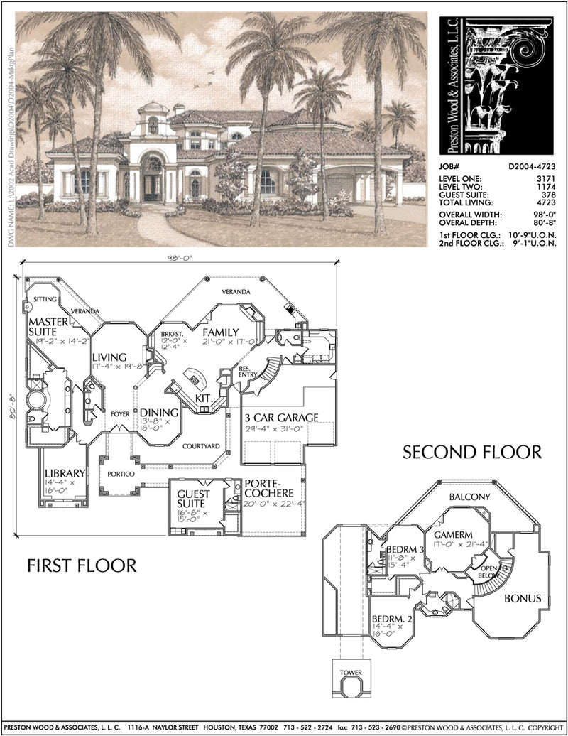 Two Story Home Plan D2004