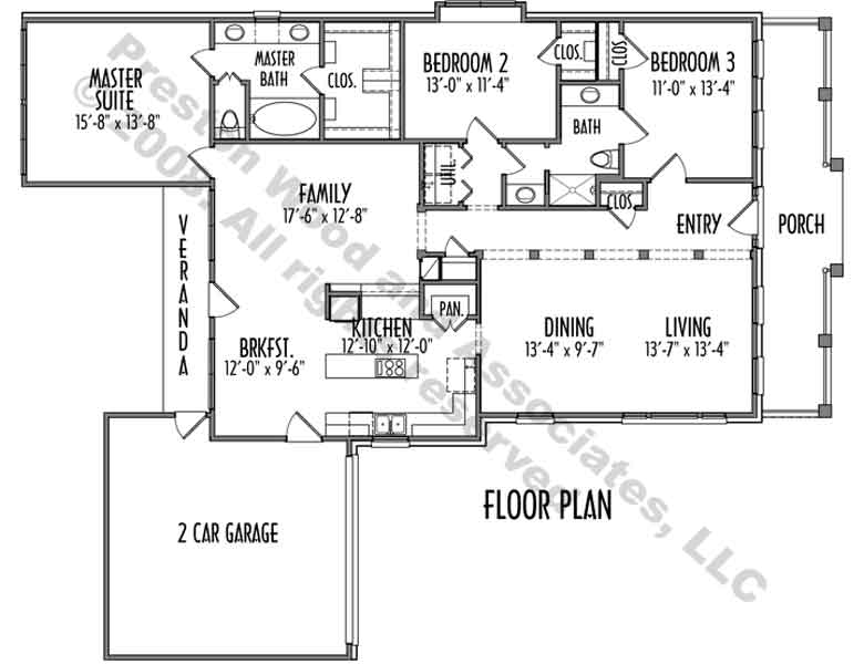 One Story House Plan C9022