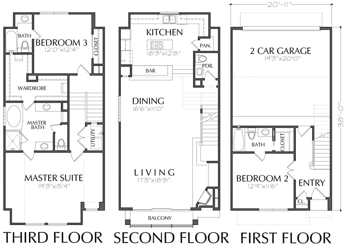Townhouse Plan D2272-2071