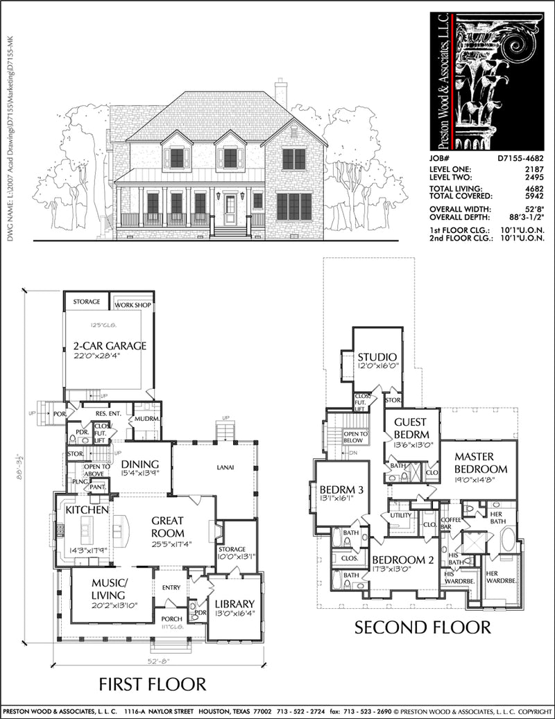 Two Story House Plan D7155