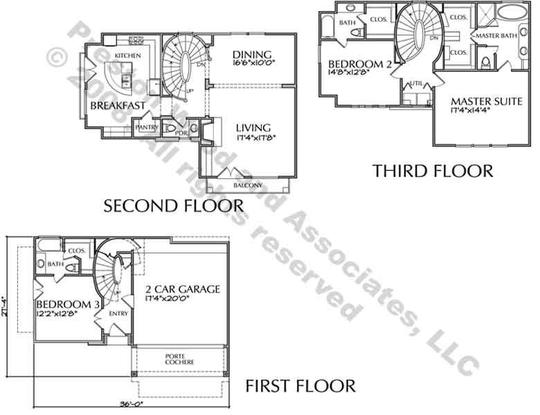 Townhouse Plan D2137 u3-u4F