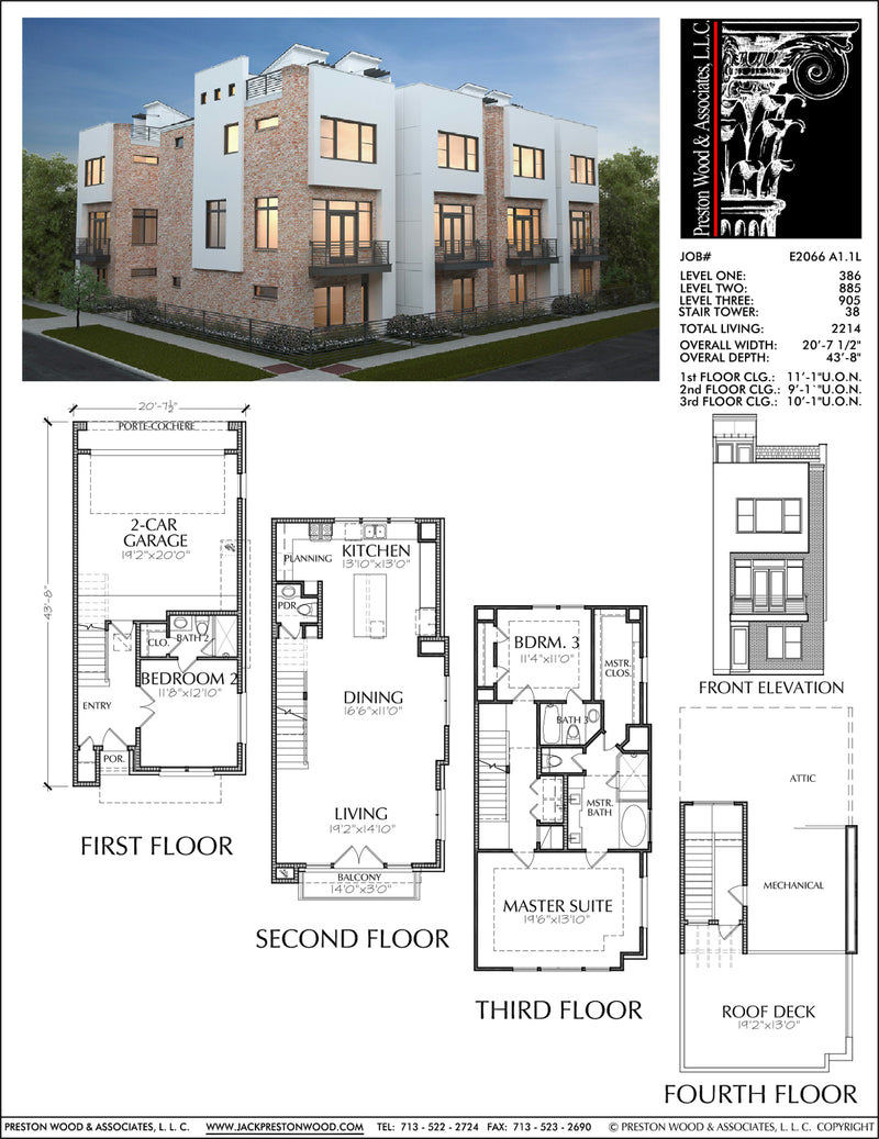 Townhouse Plan E2066 A1.1