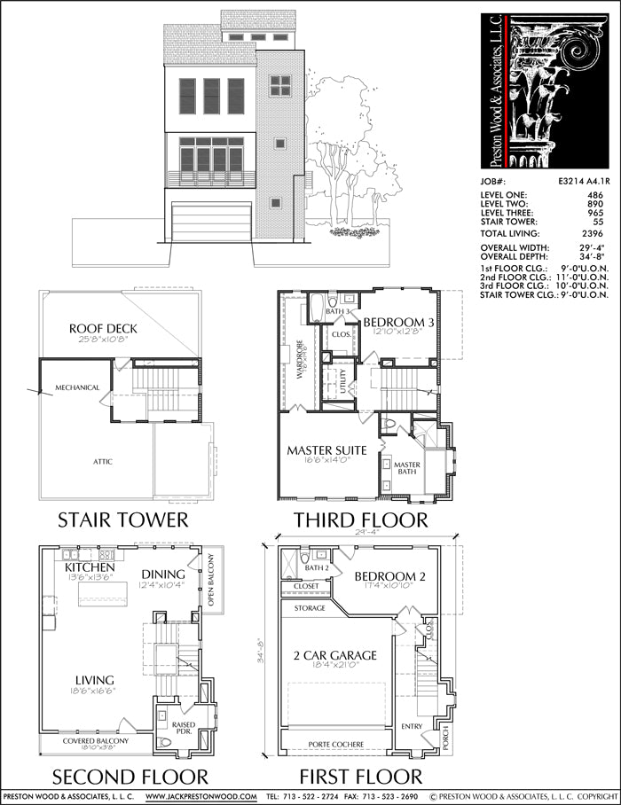 Townhouse Plan E3214 A4.1