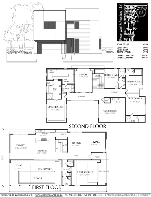 Two Story House Plan E2203 A1.1