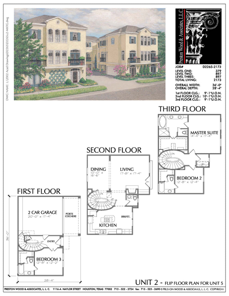 Townhouse Plan D2265u2-2173