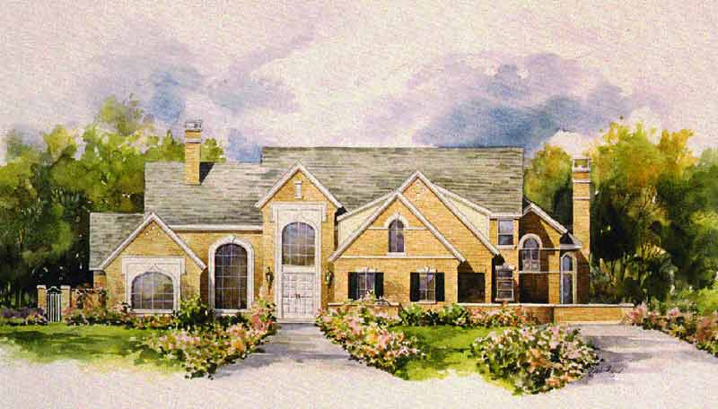 Country Style Home Plan C2086