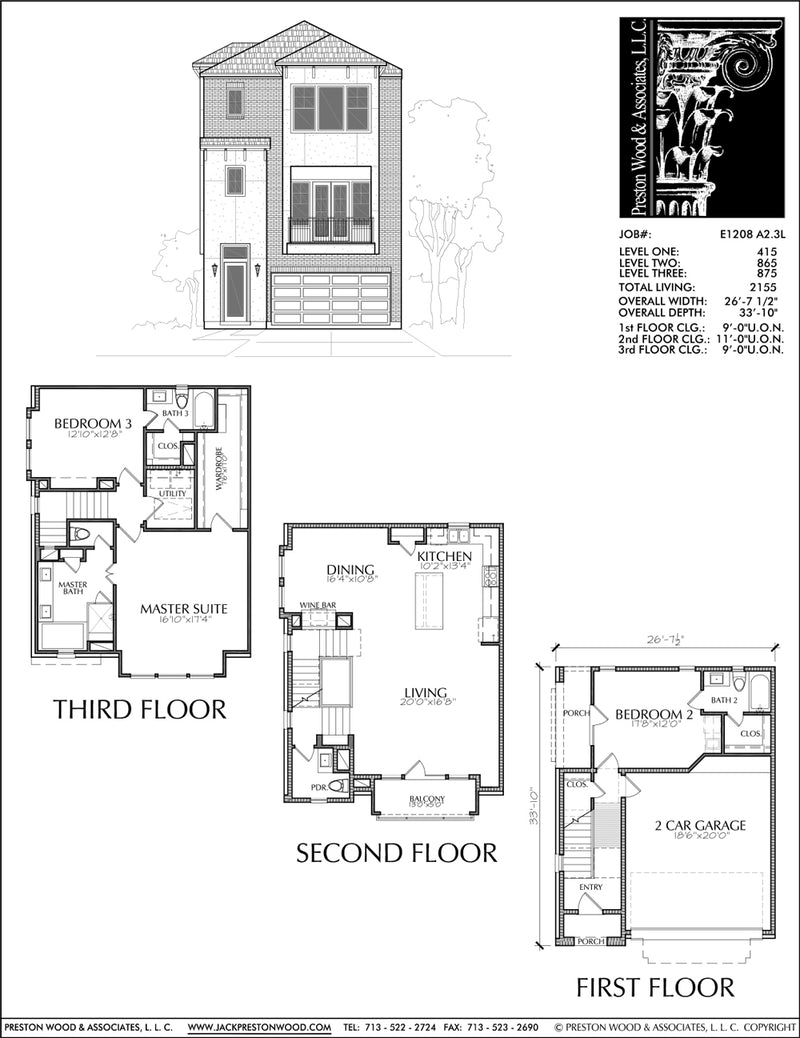 Townhouse Plan E1208 A2.3