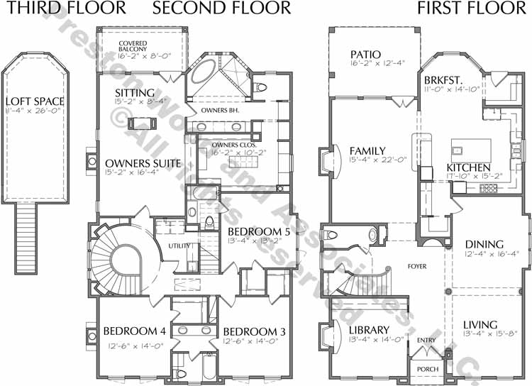 Two Story House Plan D1124
