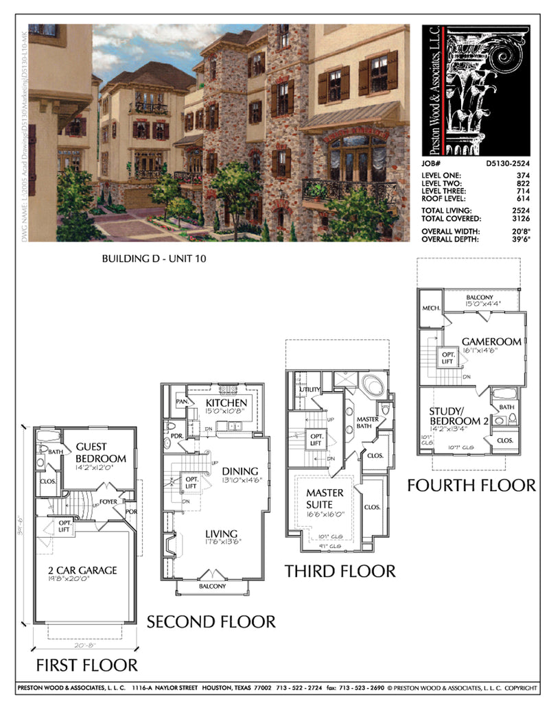 Duplex Townhouse Plan D5130 D9 & D10
