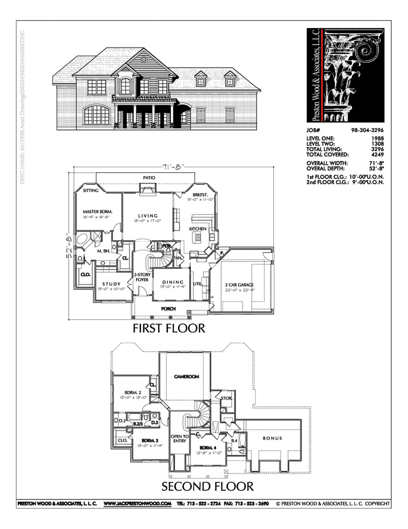 Two Story House Plan C8304