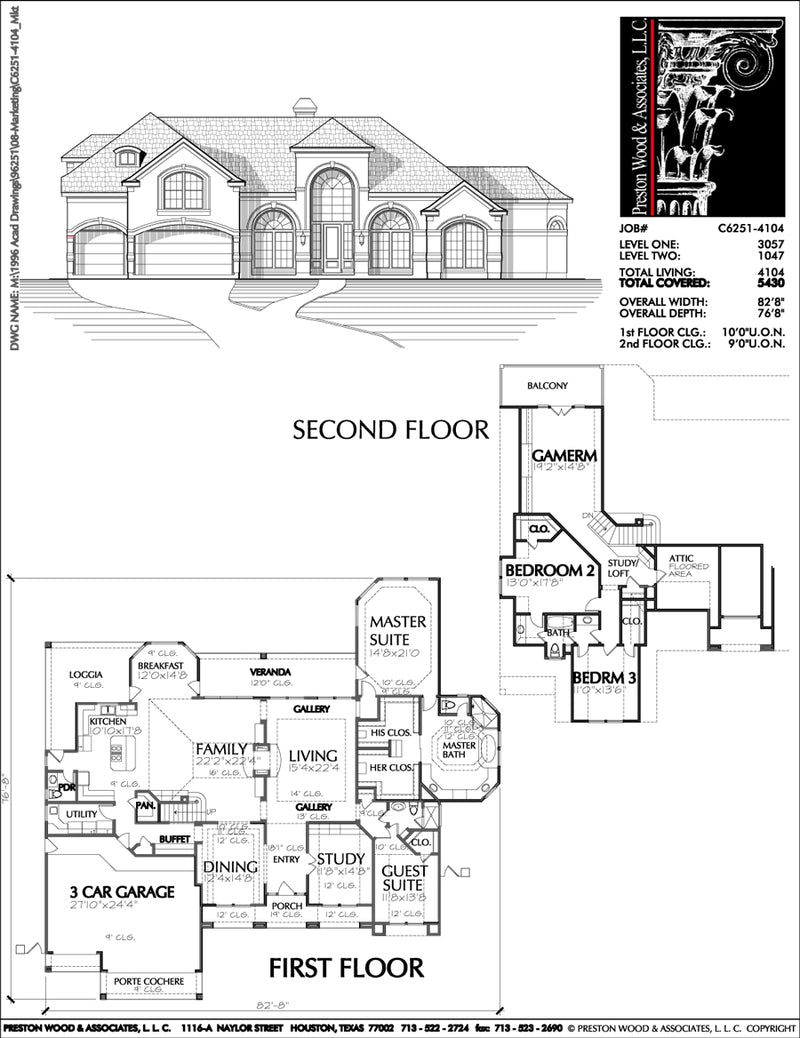 Two Story House Plan C6251