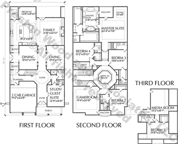 Two Story House Plan C9113