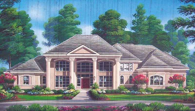 Two Story Home Plan D1076
