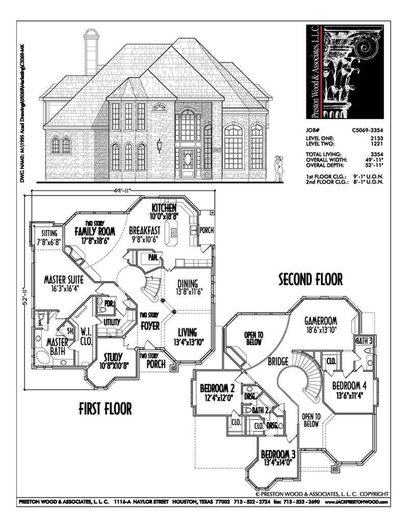 Two Story House Plan C5069