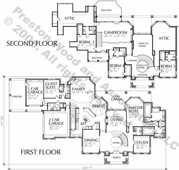 Traditional Style House Plan C7253