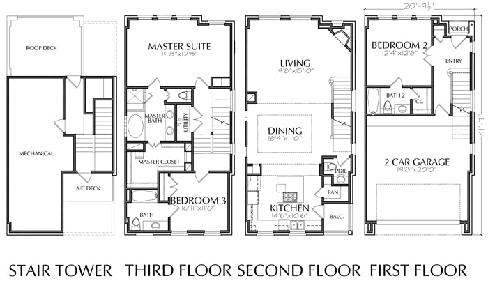 Townhouse Plan D7094 B