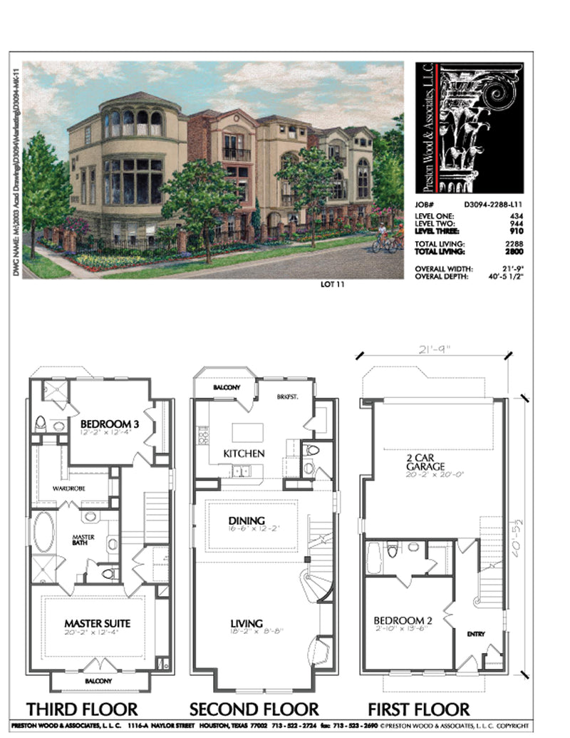 Townhouse Plan D3094 L11