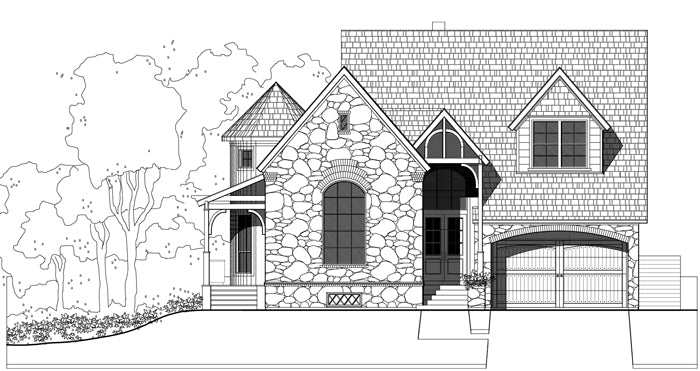 Two Story House Plan E1059