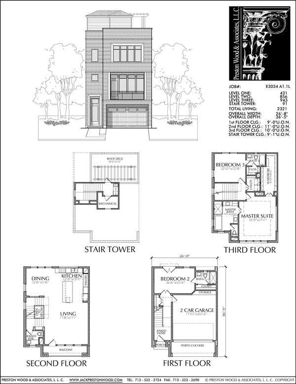 Townhouse Plan E3034 A1.1