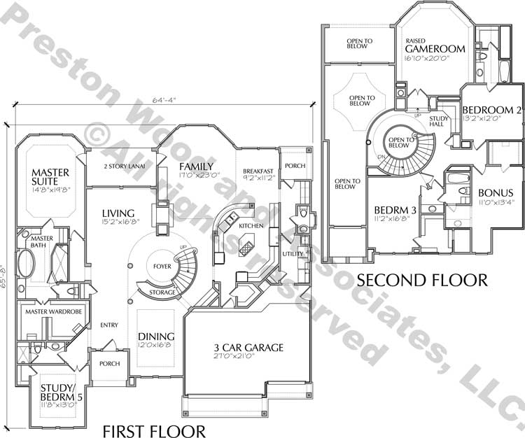 Two Story House Plan D2132